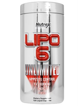 Nutrex Lipo 6 UNLIMITED 120 caps - фото 4734