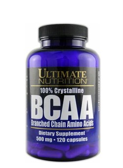Ultimate Nutrition BCAA 500 mg, 120 капс. - фото 5151