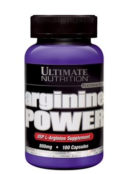 Ultimate Nutrition Arginine Power 800 mg, 100 капс. - фото 5152