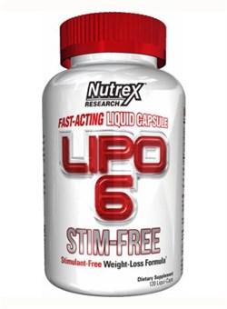 NUTREX Lipo 6 Stim-Free, 120 liquid caps. - фото 5158