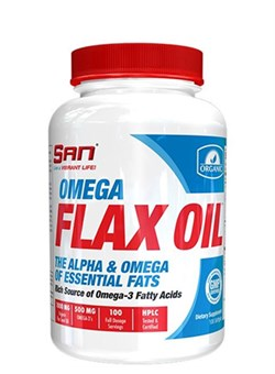 SAN	Omega Flax Oil, 100 softgel. - фото 5240