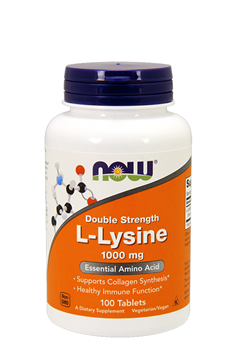 NOW FOODS L-LYSINE 1000 mg.  100 Caps. - фото 5590