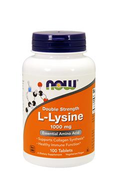 NOW FOODS L-LYSINE 1000 mg.  100 Caps. - фото 5590