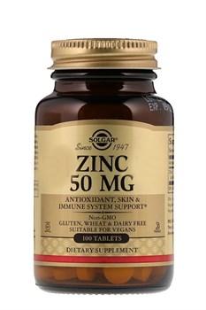 Solgar, Цинк, 50 мг, 100 таблеток - фото 5592