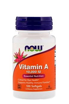 Now Foods, Витамин A, 10 000 МЕ, 100 мягких таблеток - фото 5598