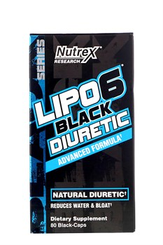 Nutrex Research, Lipo-6 Black Diuretic, 80 Black-Caps - фото 5602