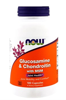 Now Foods Glucosamine & Chondroitin with MSM,  180 капсул - фото 5634