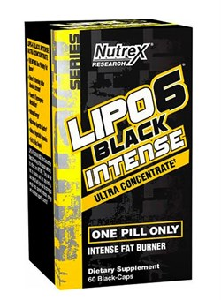 NUTREXLipo 6 Black Ultra Concentrated INTENSE, 60 caps. - фото 5698