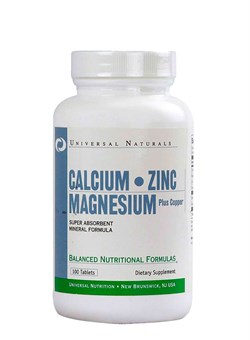 UNIVERSALCalcium - Magnesium - Zinc,   100 tab. - фото 5709