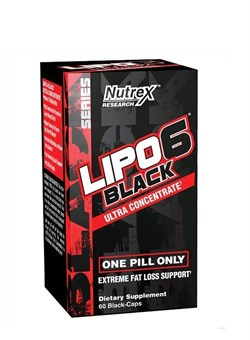 NUTREX	Lipo 6 Black Ultra Concentrated, 60 caps. - фото 5717