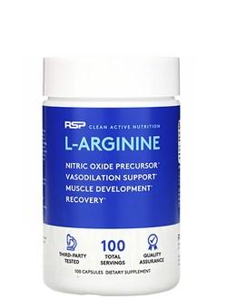 R S P L-Arginine,  100 caps. - фото 5719