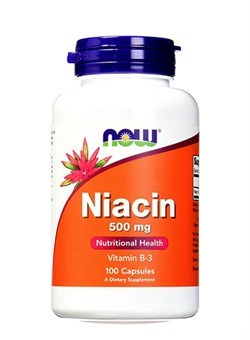 NOW Niacin 500 mg, 100 caps. - фото 5734