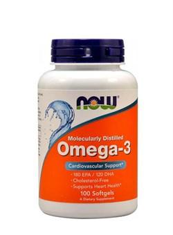NOW Omega-3  1000 mg, 100 капс. - фото 5735