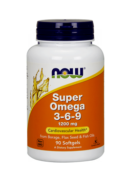 NOW Super Omega-3-6-9  1200 mg, 90 softgels. - фото 5736