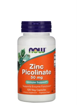 Now Foods Zinc Picolinate 50 мг,  60 капс. - фото 5882