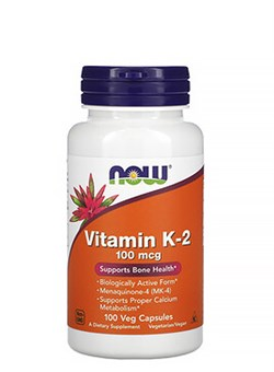 NOW Vitamin K2 100 mcg,  100 caps. - фото 5885