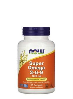 NOW Super Omega-3-6-9  1200 mg, 90 капс. - фото 5889
