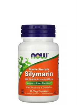 NOW Silymarin - Double Strength 300 mg, 50 капс. - фото 5890