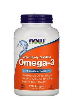 NOW Omega-3  1000 mg, 200 капс. - фото 5894