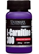 Ultimate Nutrition L-Carnitine 300 mg, 60 tab.