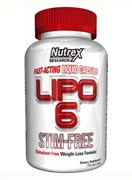 NUTREX Lipo 6 Stim-Free, 120 liquid caps.