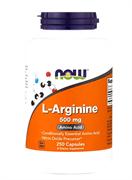 NOW Arginine 500 mg, 100 caps.