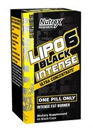 NUTREX	Lipo 6 Black Ultra Concentrated INTENSE, 60 caps.