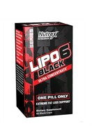 NUTREX	Lipo 6 Black Ultra Concentrated, 60 caps.